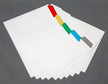 custom color index tabs, laminated tabs